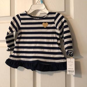 NWT Carter's navy/white striped long sleeve top